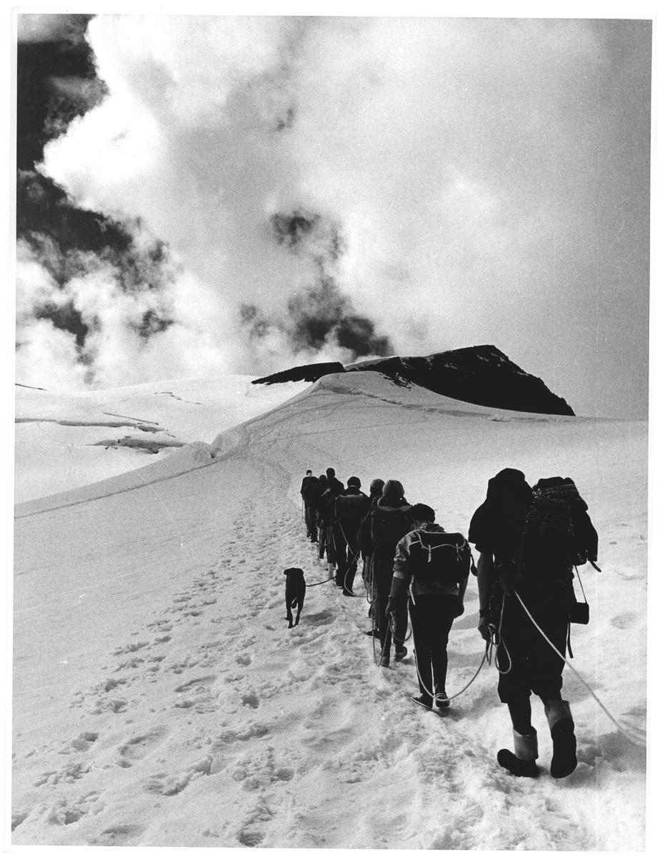 Til Galdhøpiggen over Styggebreen