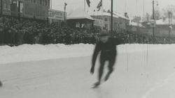 Skøitematchen på Frogner stadion mellem NSF og AIF