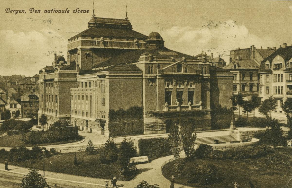 Bergen. Engen. Den Nationale Scene. Utgiver: Mittet & Co, før 1922.