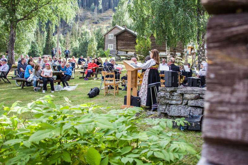 Frå hundreårsjubileet til Bagn Bygdesamling, 22. august 2020. Foto: Ingri Valen Egeland.