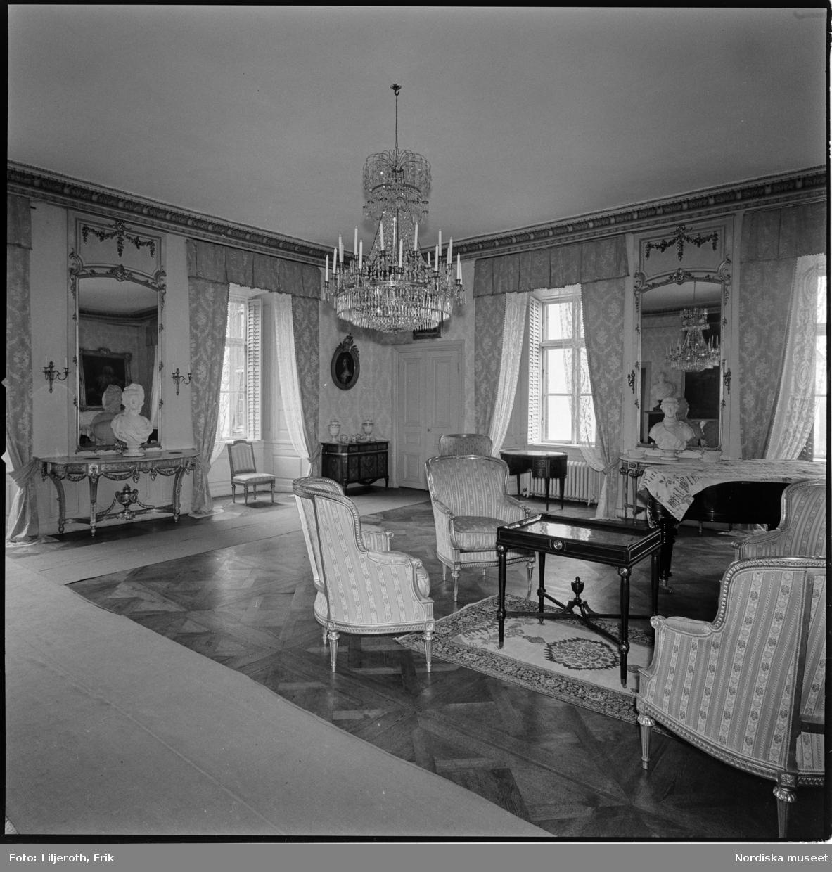 Tyresö slott, interiör, Tyresö socken, Södermanland.