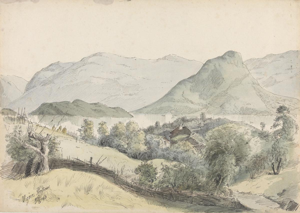 Kvam prestegård, Vikøy [Tegning]