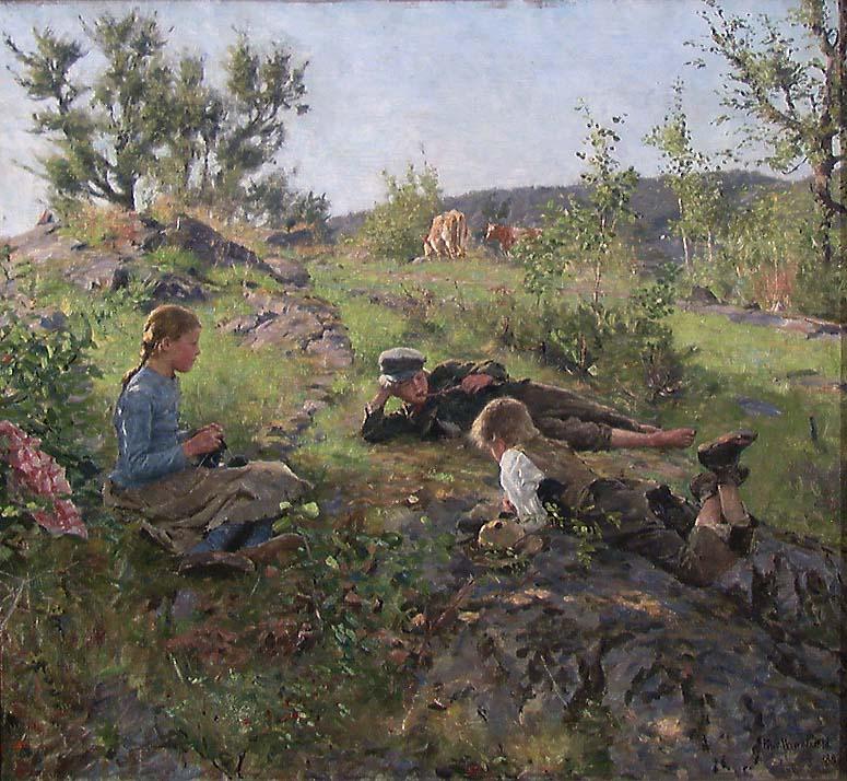 Gjetere, Tåtøy [Maleri]