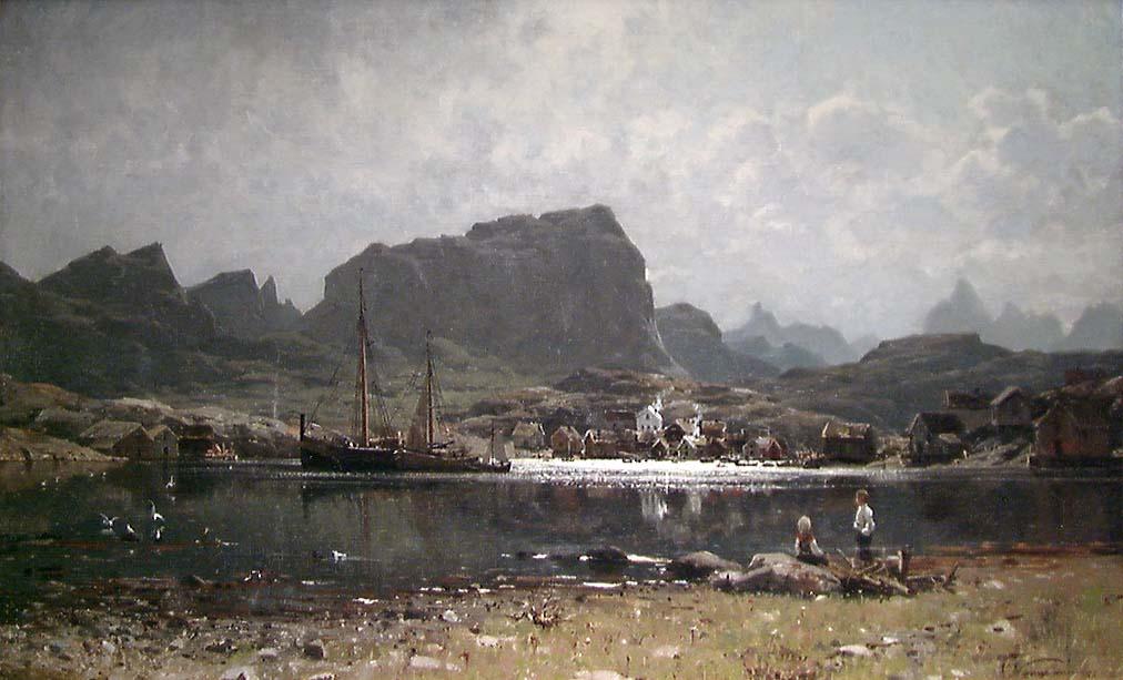 Fiskevær i Nord-Norge [Maleri]