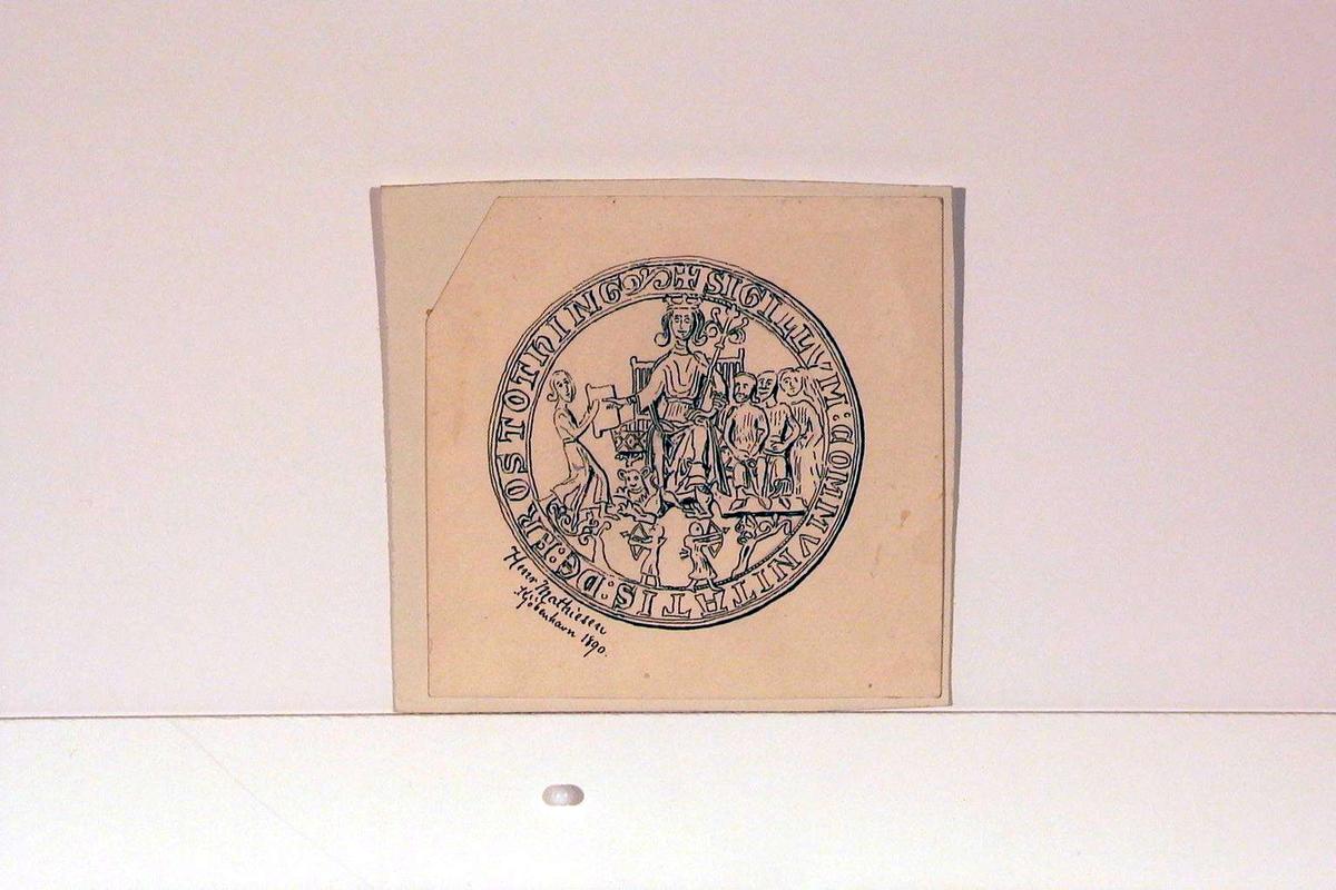 Reproduksjon av en tegning av et segl fra Frostating