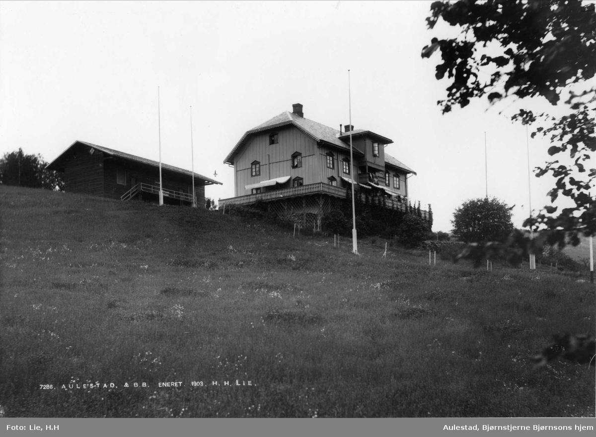 Aulestad, 1903, hovedbygning, drengestua, humle, kort,