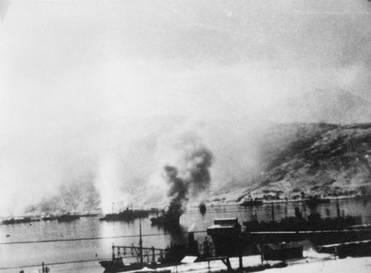 krigen, Narvik havn, båter