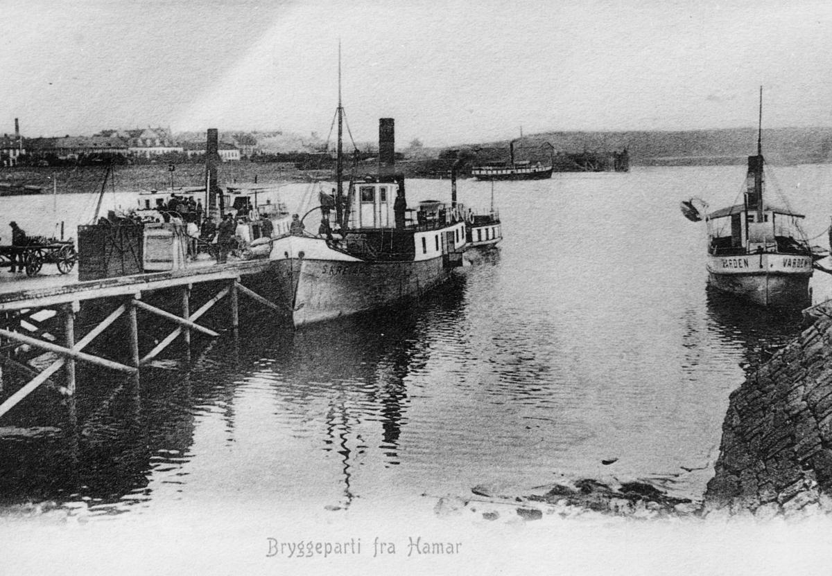 transport båt, eksteriør, Hamar, ved kai, D/S Tordenskjold, Skreia, Hamar, Varden