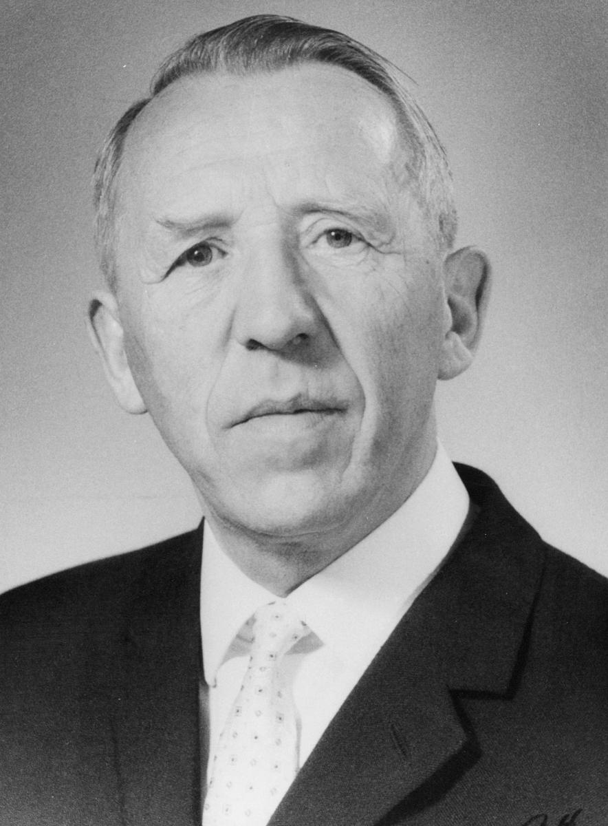 portrett, postmester, Garpe Einar