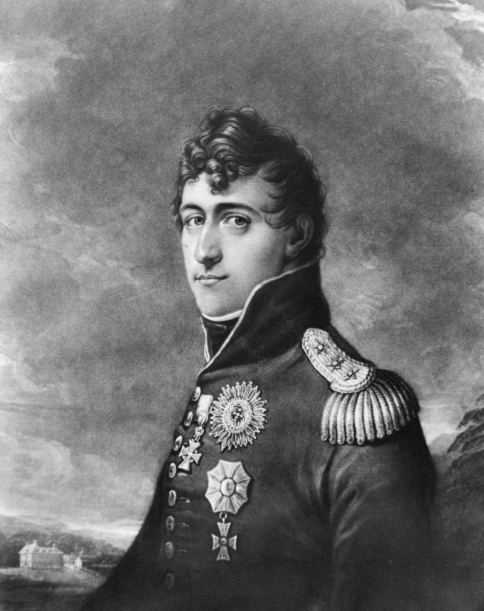 portrett, mann, kong Kristian Fredrik