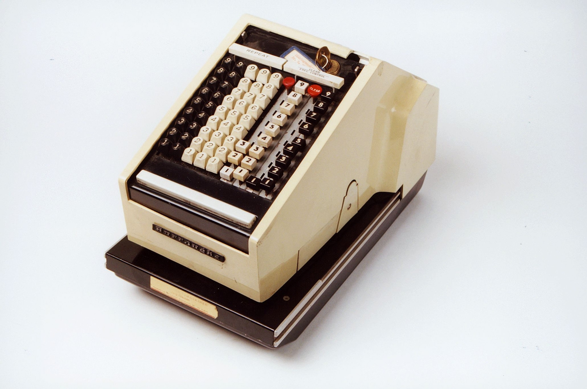 Postmuseet, gjenstander, sikringsmaskin, Burroughs T8909 R2084.
