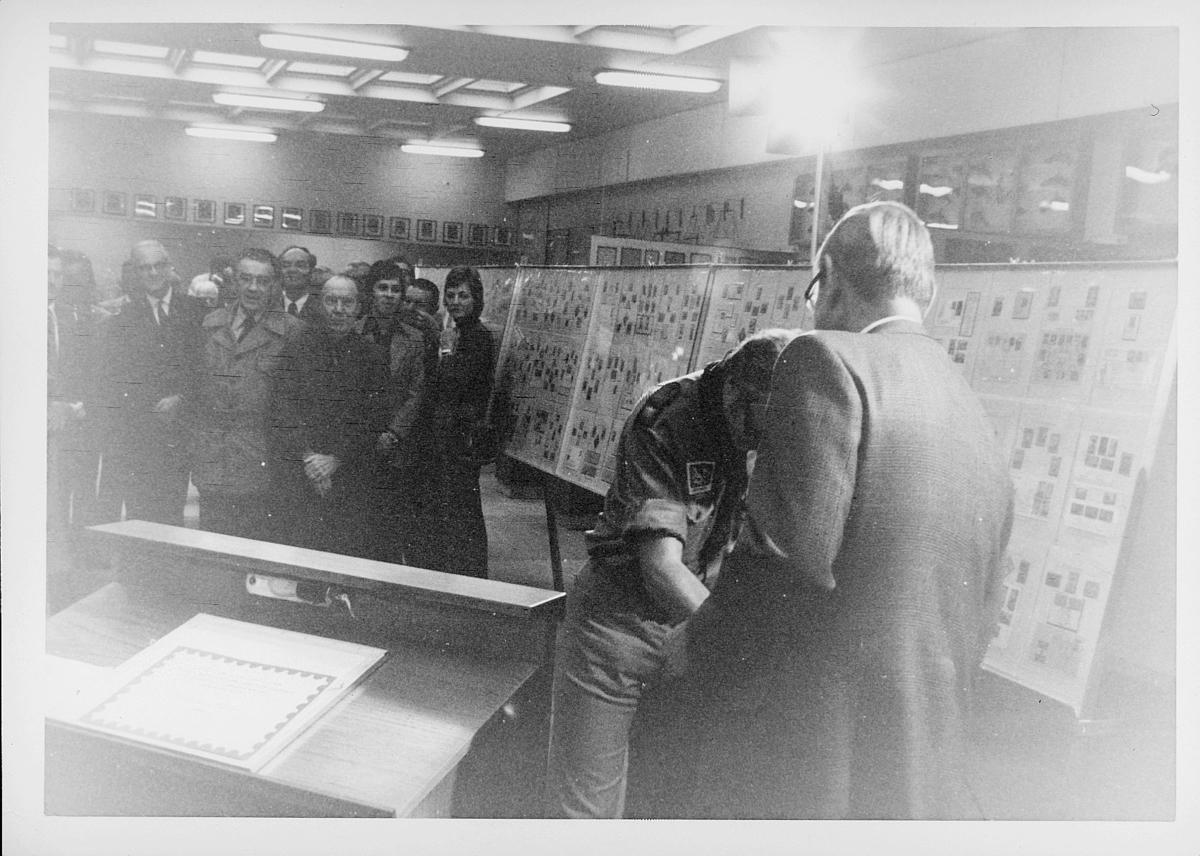 markedsseksjonen, Frimerkets dag '75, Det norske Postmannslag, Østenfjellske krets, 9. oktober, Ragnvald Rustung Bru