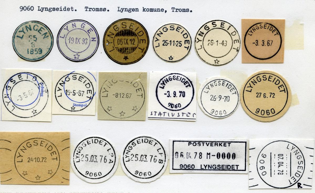 Stempelkatalog,9060 Lyngseidet, Tromsø, Lyngen kommune,Troms