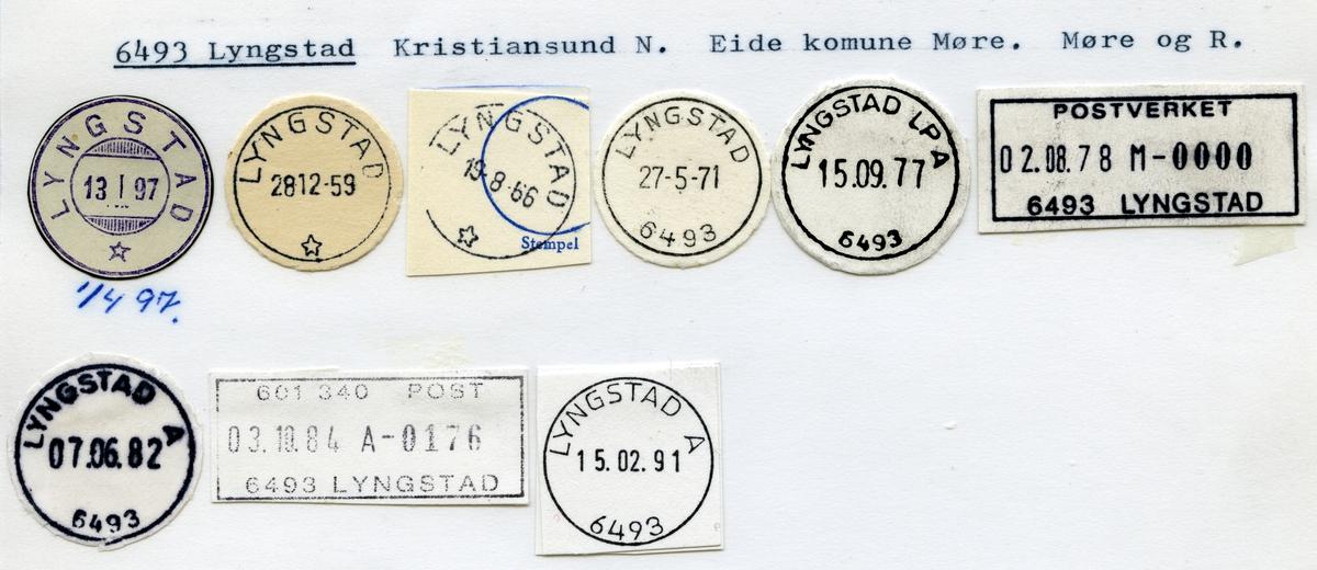 Stempelkatalog, 6493 Lyngstad, Kristiansund, Eide kommune, Møre og Romsdal