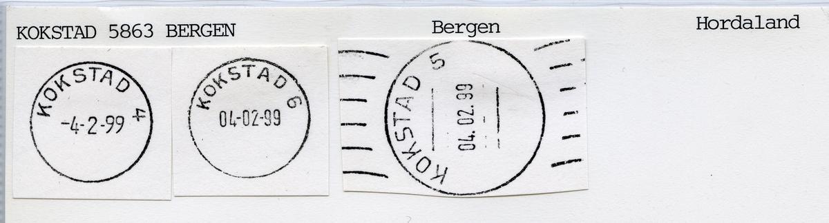 Stempelkatalog 5061 Kokstad, Bergen, Hordaland