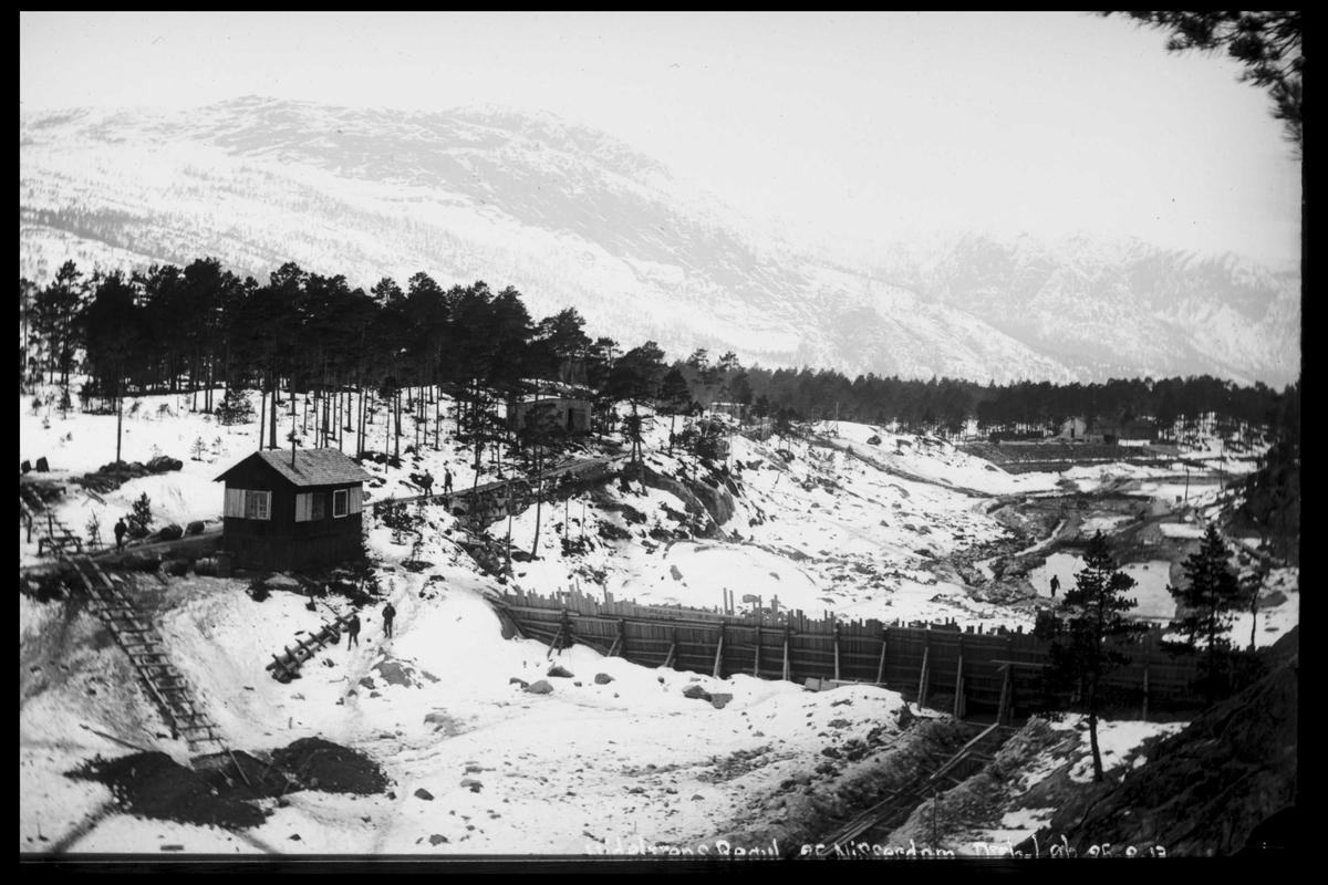 Arendal Fossekompani i begynnelsen av 1900-tallet CD merket 0565, Bilde: 56 Sted: Nisser Beskrivelse: Dam