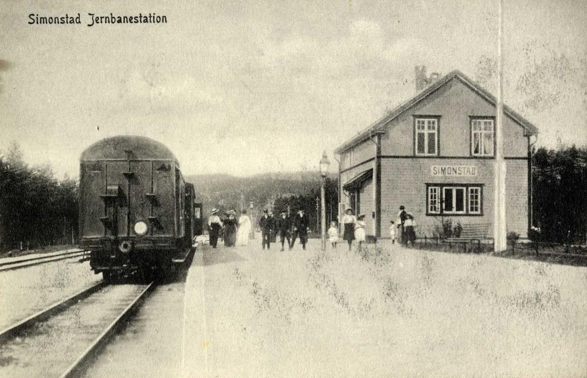 Åmlibilder Simonstad stasjon