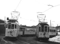 Oslo Sporveier. Trikk motorvogn 155 (fra 1921) type Brill og