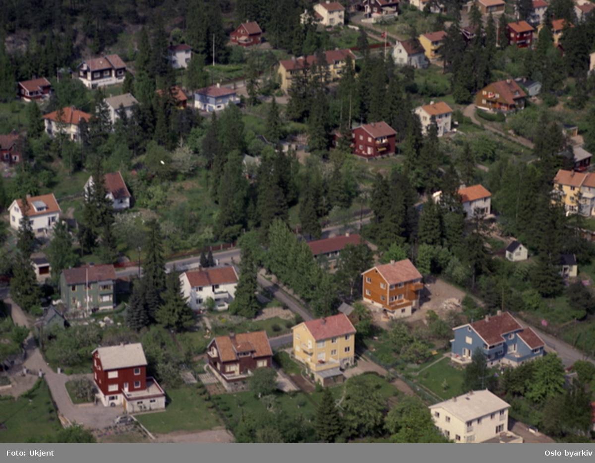 Kildeveien, Stølsveien. Villabebyggelse. (Flyfoto)
