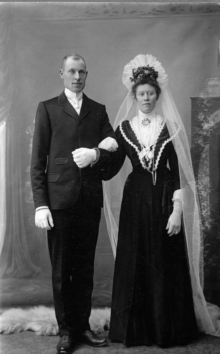 Ola Sveinson Brekke og Mari  Kyrkjebøn, brudebilde