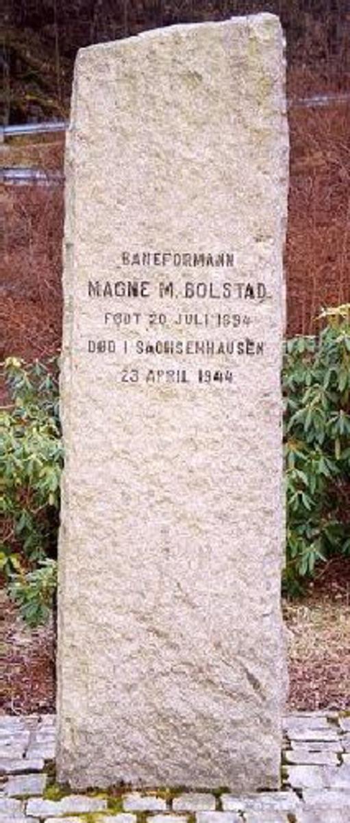 Bautaen stod tidligere like ovenfor jernbanestasjonen på Vaksdal, ble deretter flyttet nærmere sentrum (Botnen). Står nå utenfor Vaksdal Senter. Kjøreanvisning: Vaksdal ligger ved E16 mellom Trengereid og Voss.Bauta står 50 m forran inngangen til Vaksdal Senter.