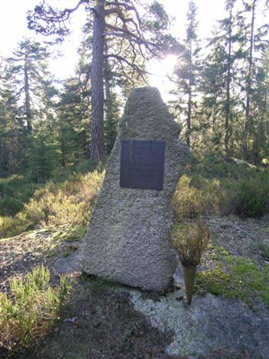 Naturstein med plate.