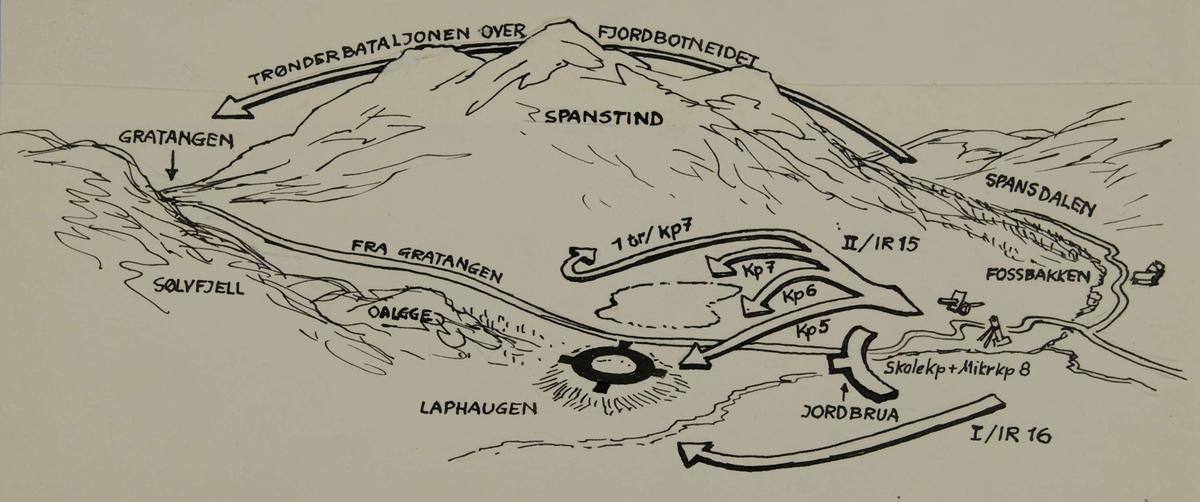 kart gratangen Strategisk kart over området Gratangen   Lapphaugen.   Forsvarets  kart gratangen