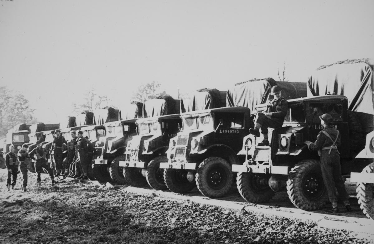 Parkerte lastebiler, Tysklandsbrigaden.