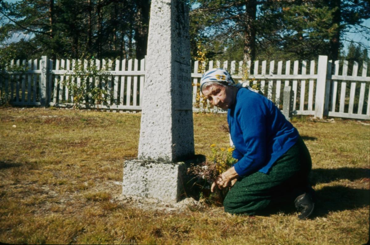 Anna Widén(Anna i Ødemarka) på kirkegård
