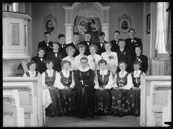 Konfirmanter i Brekken kirke, 1953