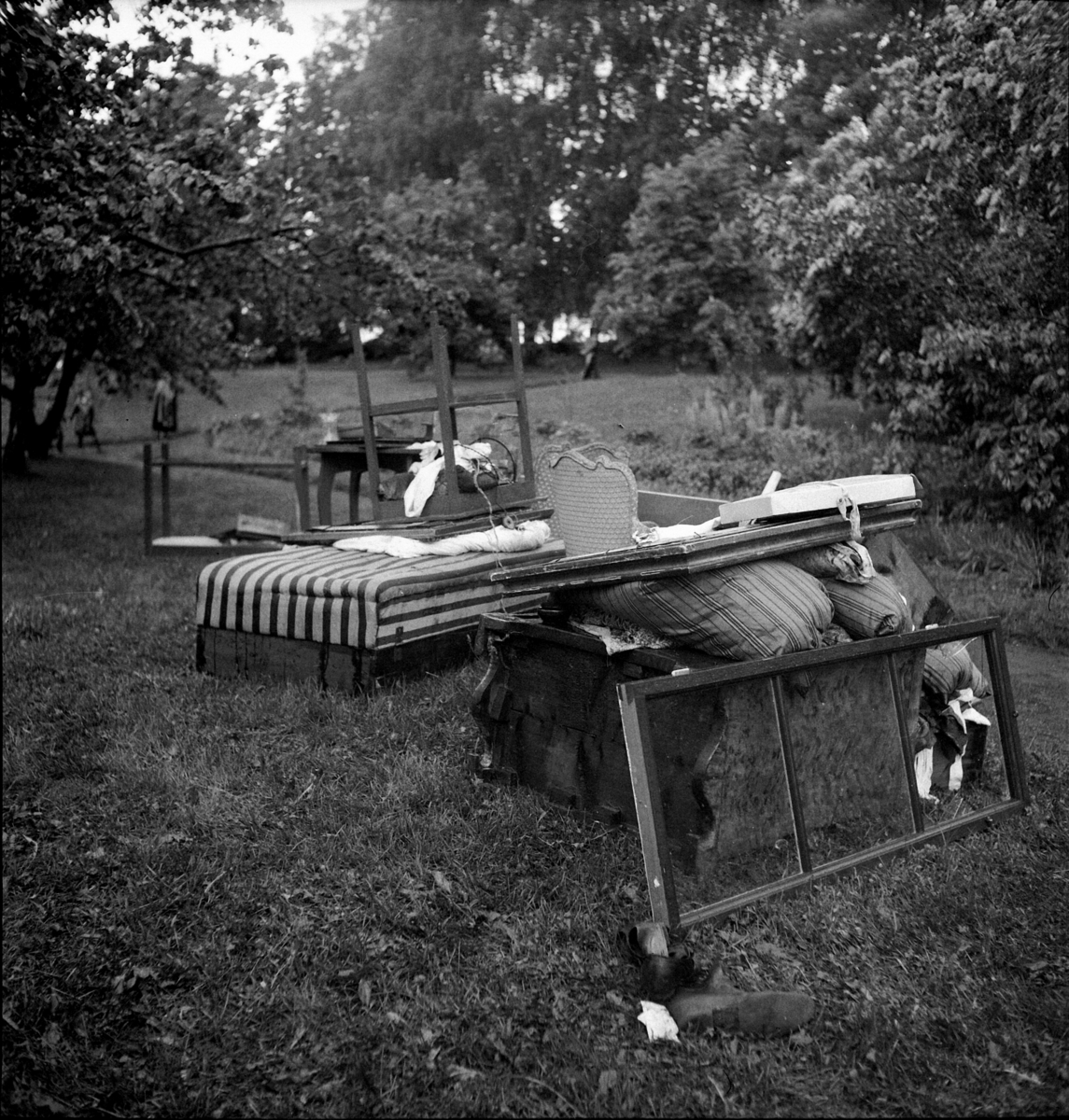 STORHAMAR GÅRD, DOMKIRKEODDEN, BRANN I HOVEDBYGNINGEN ETTER LYNNEDSLAG 20.september 1939., INVENTAR.