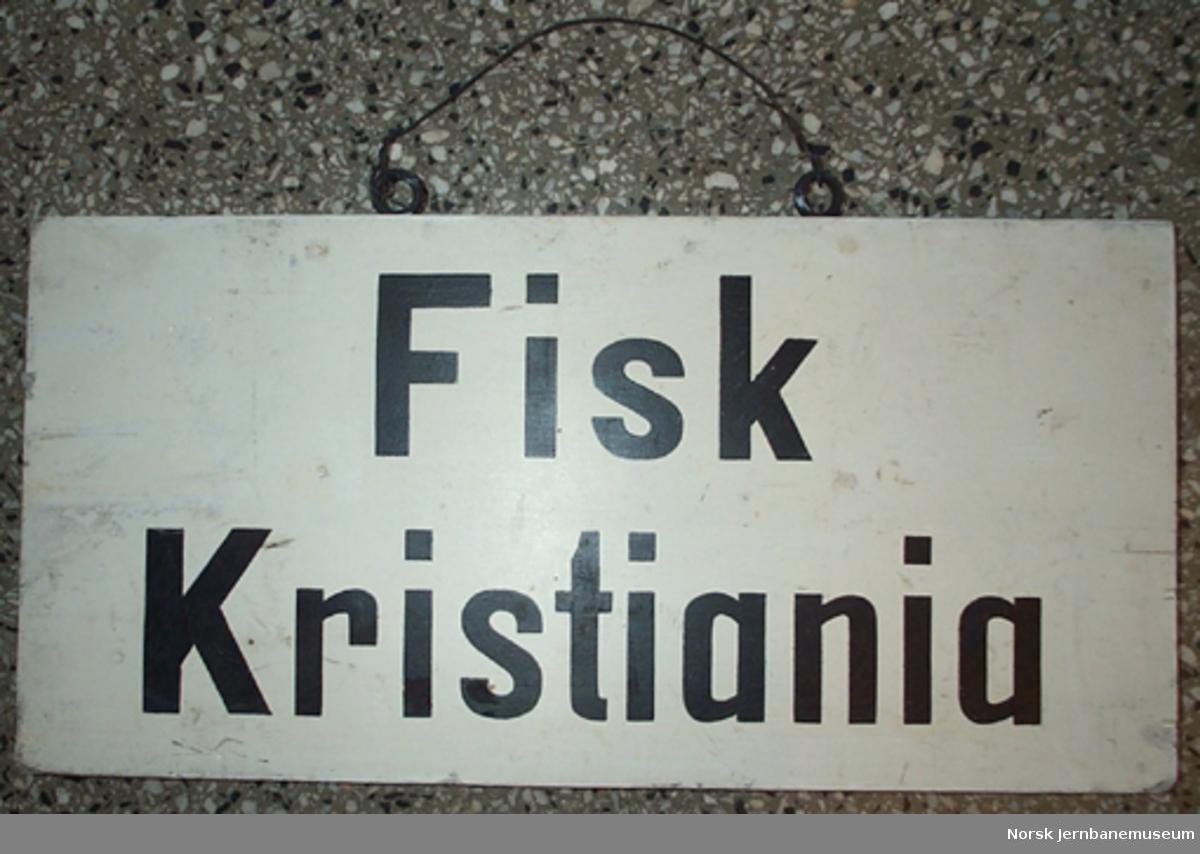 "Skilt ""Fisk Kristiania"""