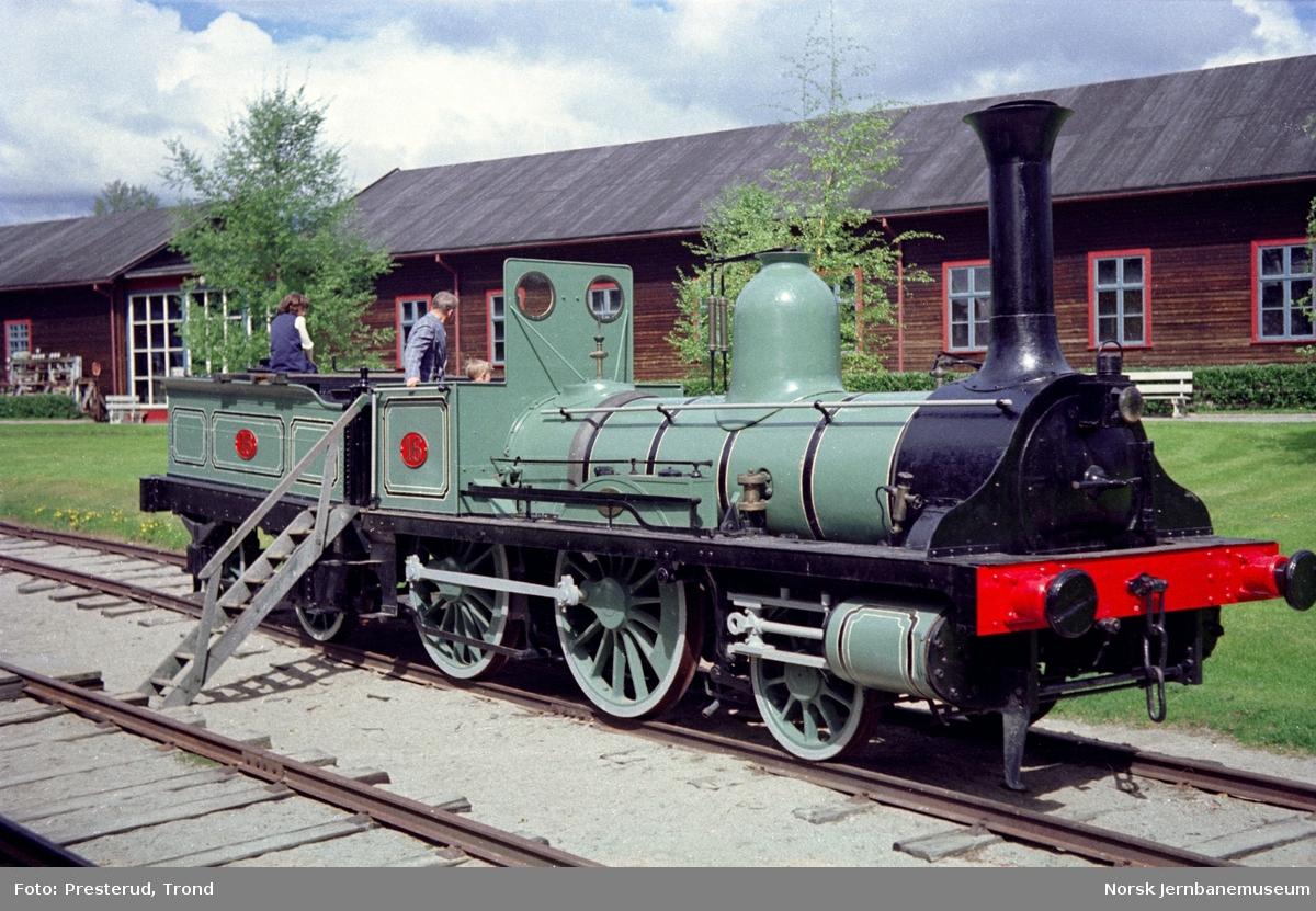 Jernbanemuseet - Kongsvingerbanens lokomotiv type 2a nr. 16