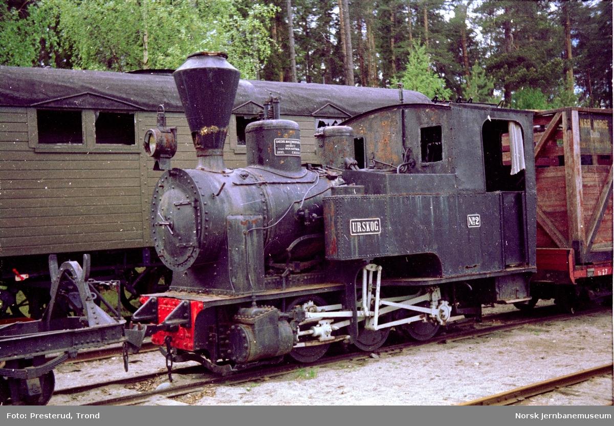 """Jernbanemuseet - Urskog-Hølandsbanens lokomotiv """"URSKOG"""""""