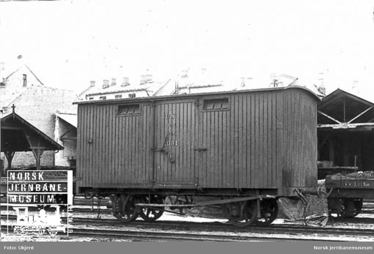 Vestfoldbanens lukkede godsvogn litra G nr. 1081