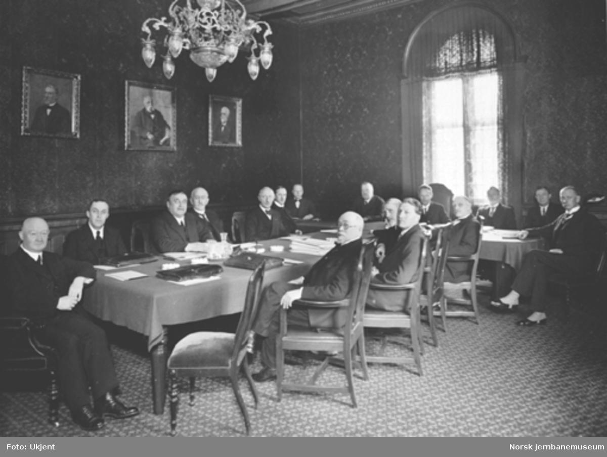 Distriktssjefmøte i Hovedbanens møtesal