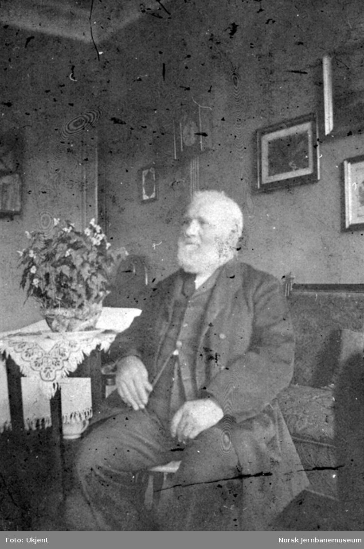 Portrett av lokomotivfører Hans Jensen