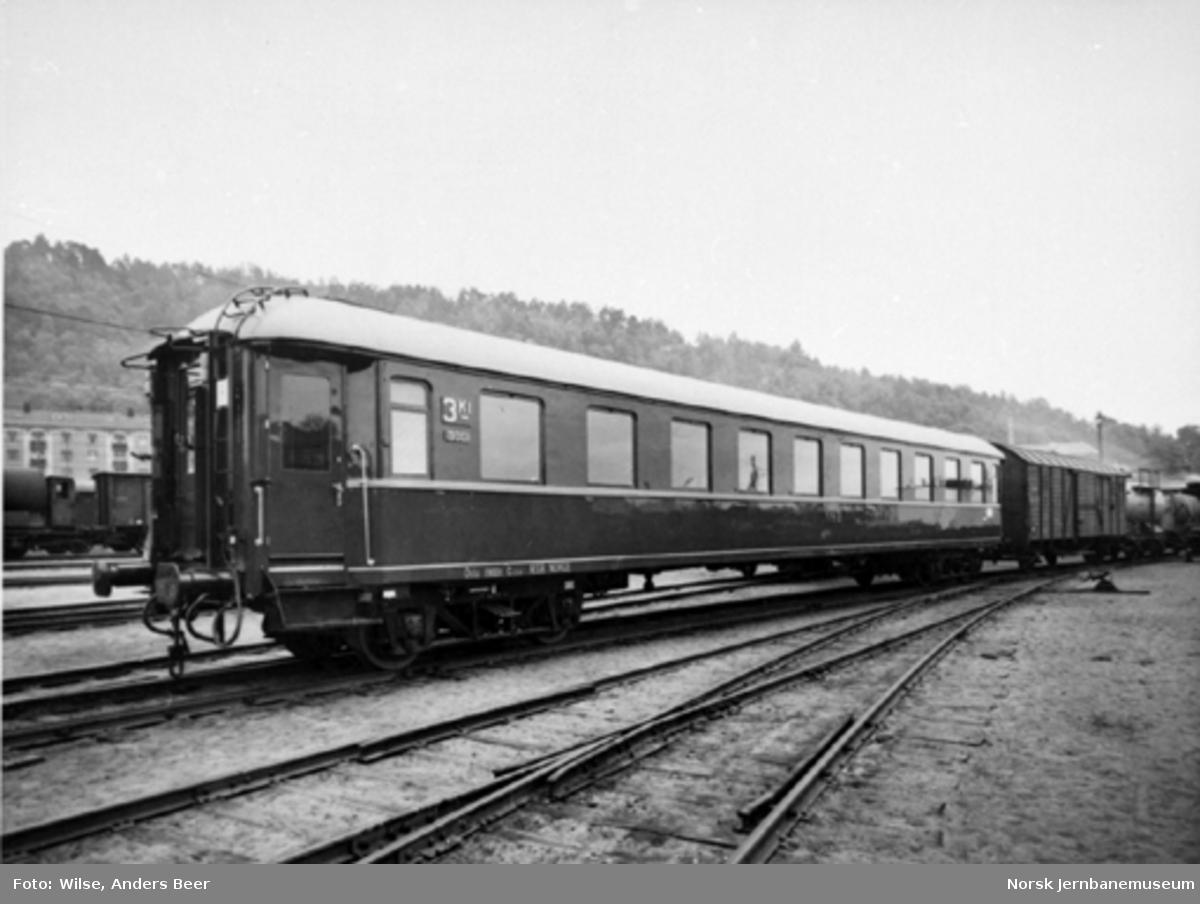 NSB personvogn litra Co2d nr. 19001 som ny