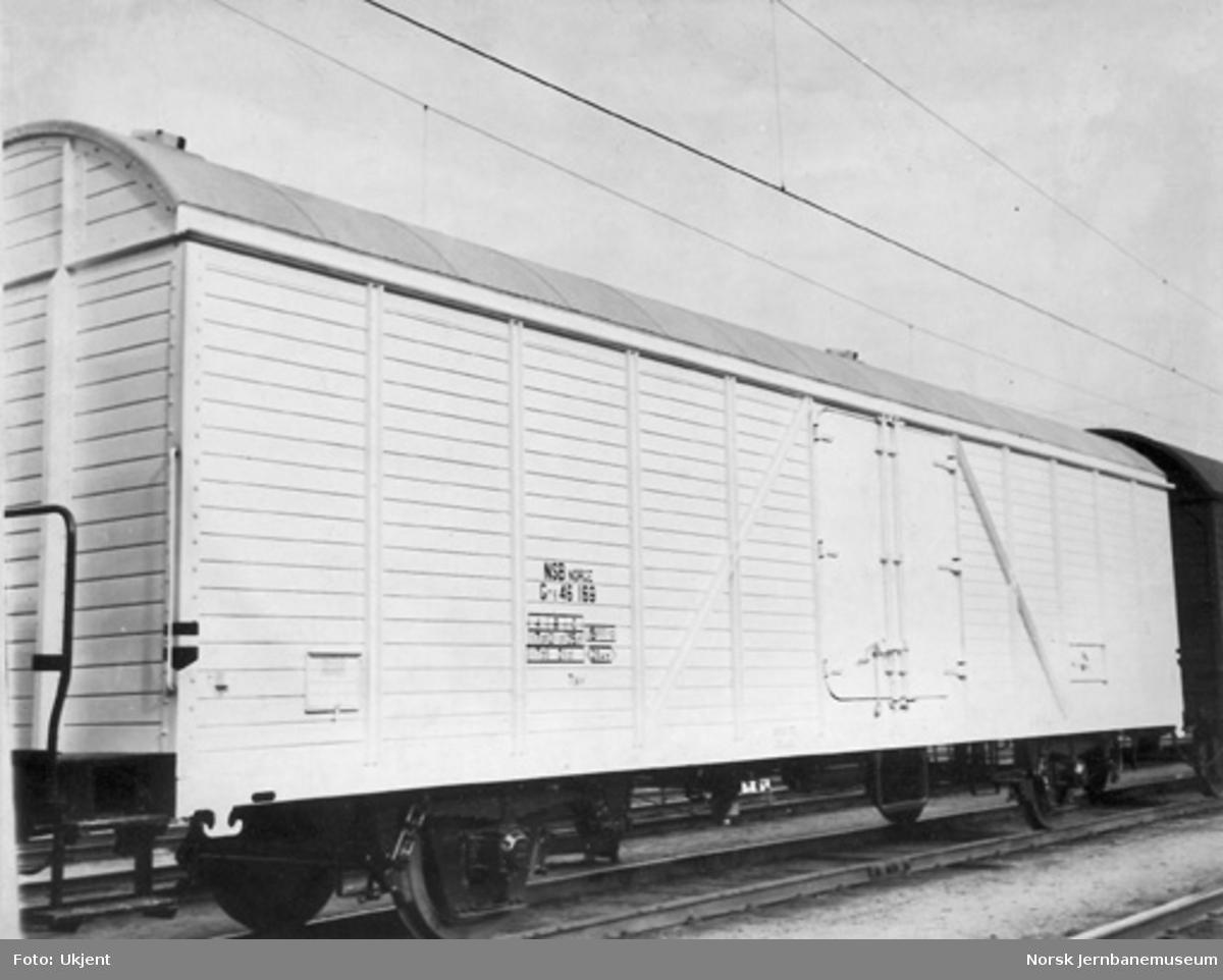 NSB lukket godsvogn litra Gr5 nr. 46169, bygget for ostetransport