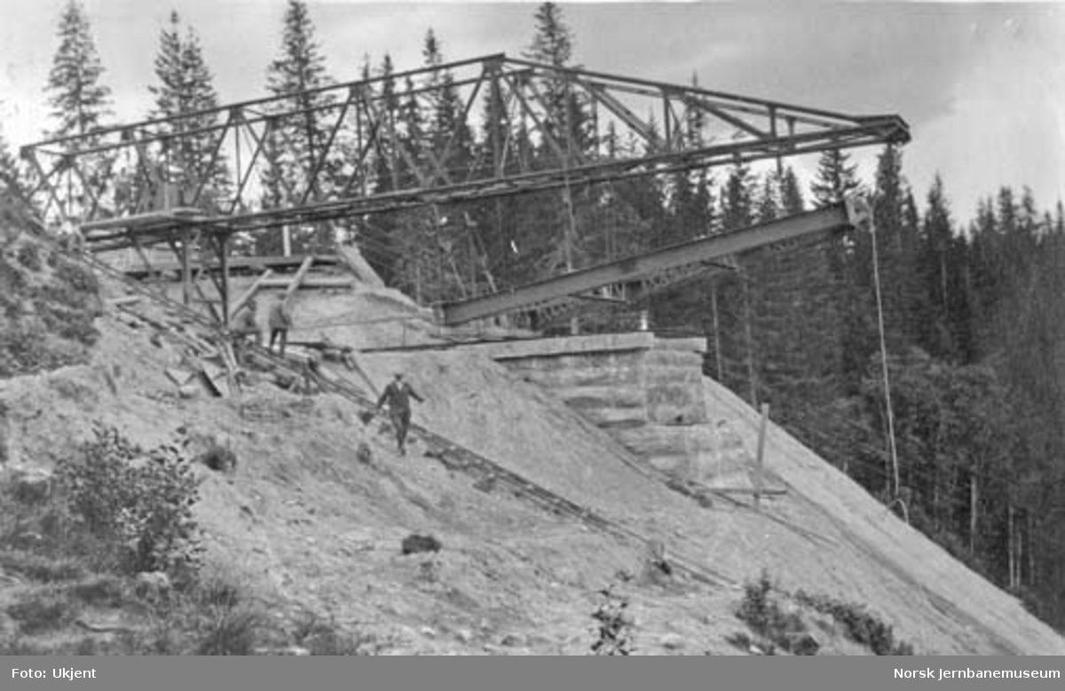 Grana bru : første 9,5 meter pillar