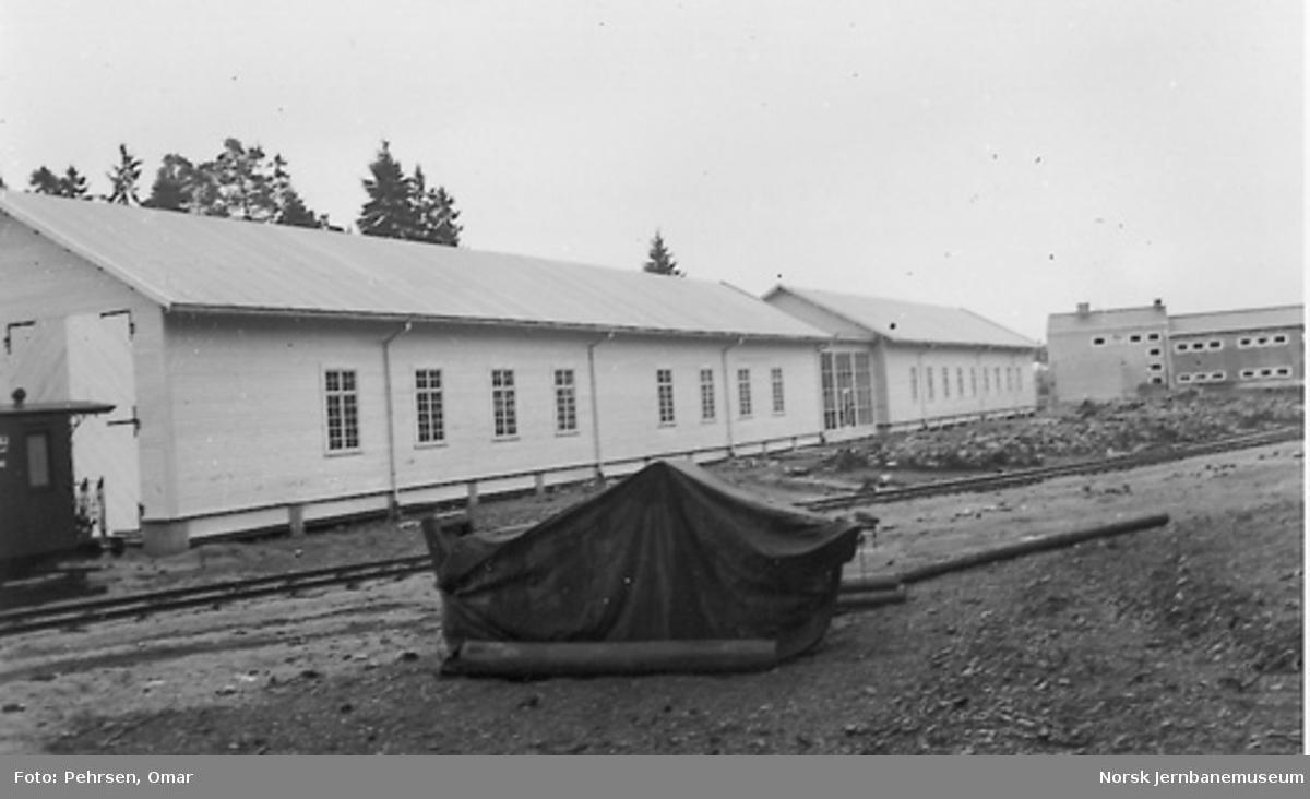 Nytt museum Martodden : Parken med vognhallen