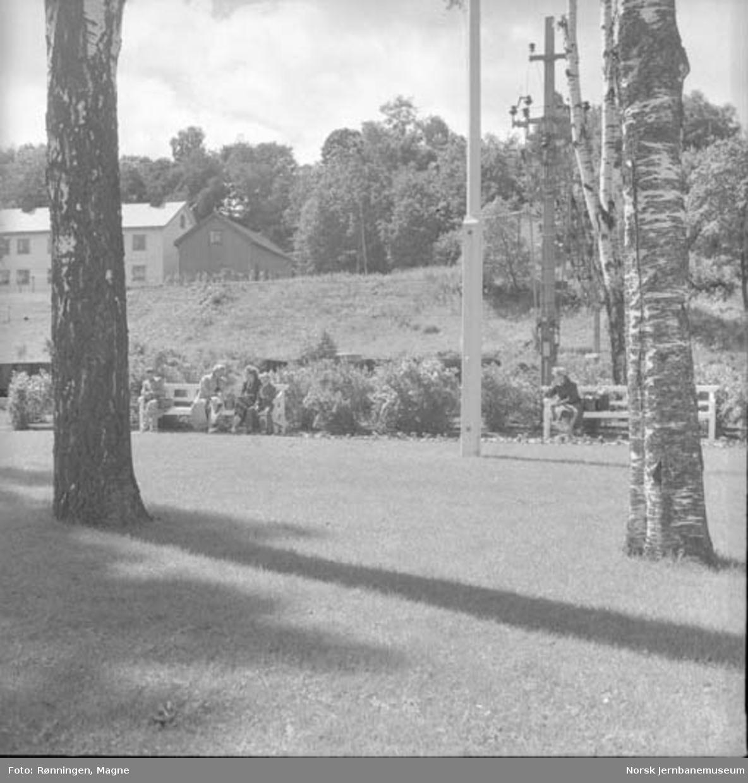 Hageanlegget på Eidsvoll stasjon