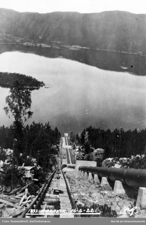 Drammenbanens elektrifisering : bygging av rørgaten på Hakavik