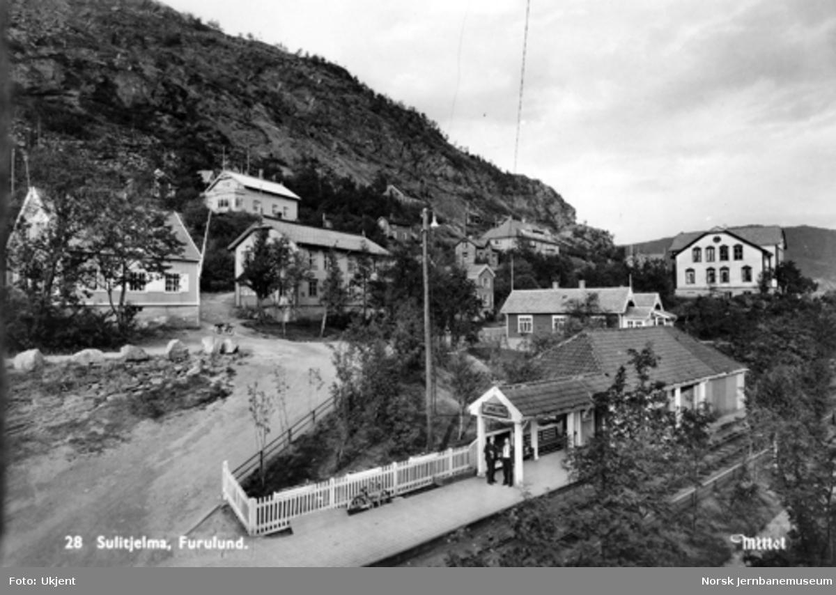 Furulund (senere Sulitjelma) stasjon på Sulitjelmabanen