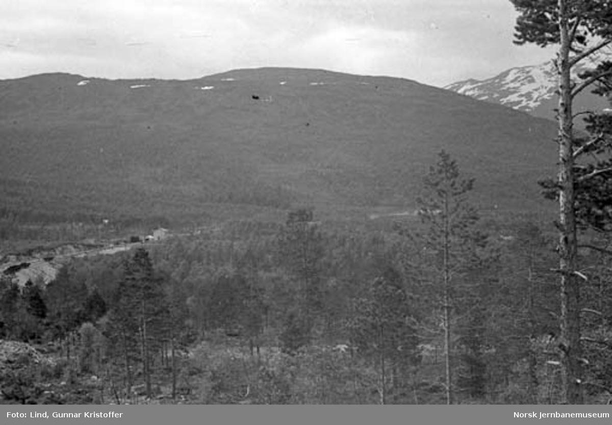 Nordlandsbaneanlegget : linjeparti med Hjartåsen stasjon