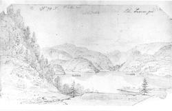 "LangangenFra skissealbum av John W. Edy, ""Drawings Norway 1"