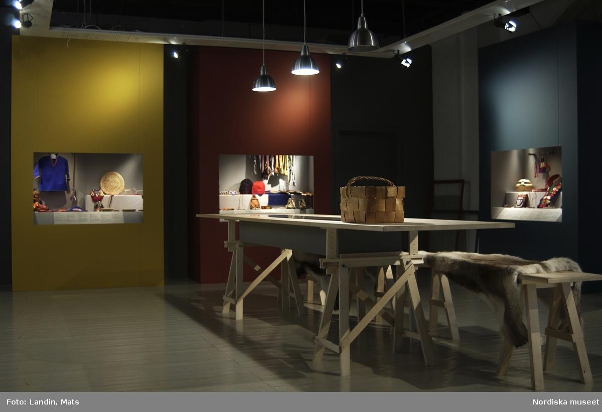 Utställningsdokumentation Sameslöjd från Ammarnäs augusti 2002.