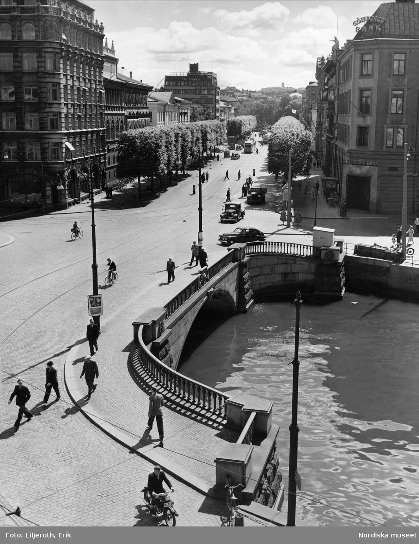 Göteborg. Vy över Kämpebron.