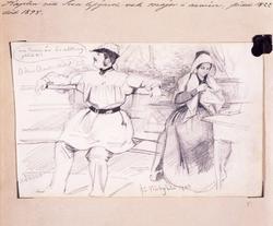 """""""Kapten vid Svea lifgarde och major i armén, född 1822 död 1"""