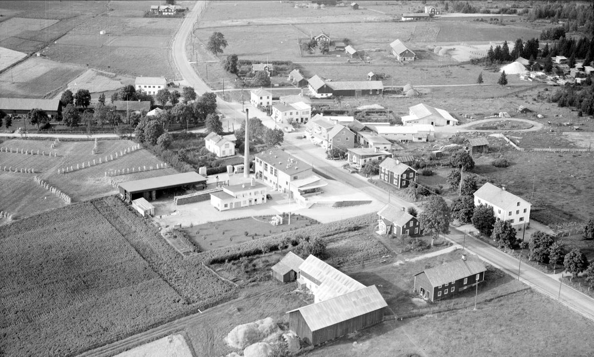 Flygfoto över Norrskedika, Börstils socken, Uppland 1955